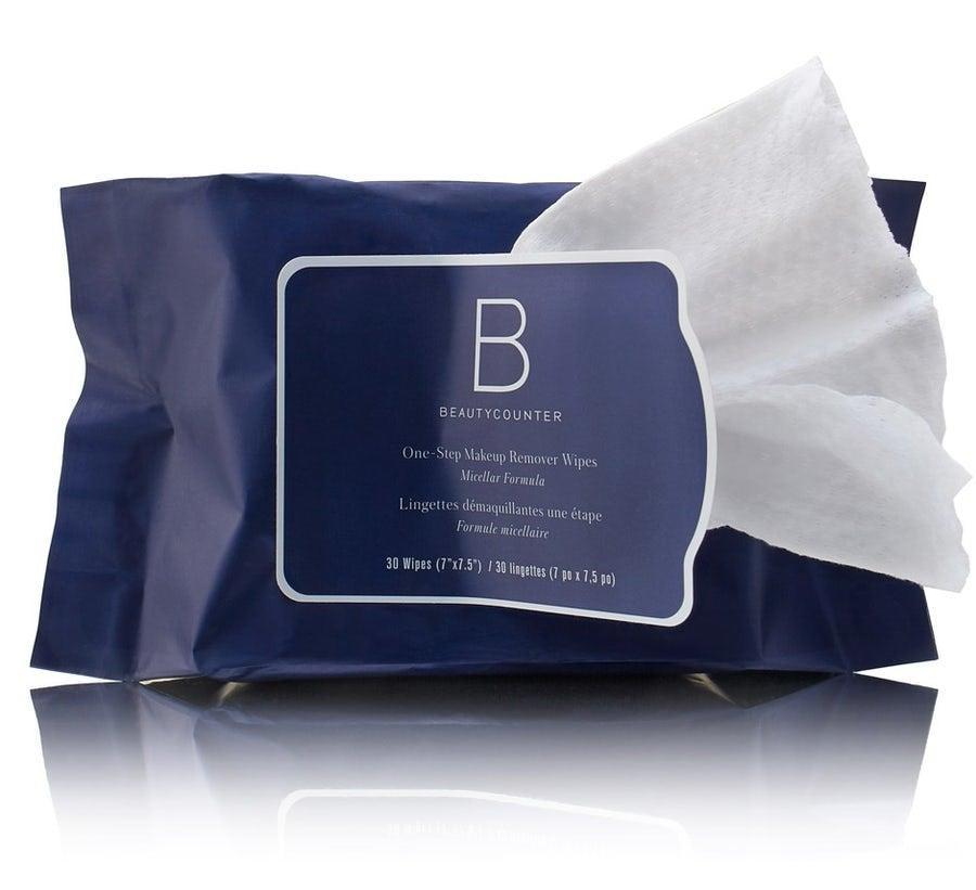 "<h3>Beautycounter One-Step Makeup Remover Wipes</h3><br>Aloe vera and cornflower water are among the soothing, skin-loving ingredients in Beautycounter's clean makeup wipes that you can toss in the compost bin.<br><br><strong>Beautycounter</strong> One-Step Makeup Remover Wipes, $, available at <a href=""https://go.skimresources.com/?id=30283X879131&url=https%3A%2F%2Fwww.beautycounter.com%2Fproduct%2Fone-step-makeup-remover"" rel=""nofollow noopener"" target=""_blank"" data-ylk=""slk:Beautycounter"" class=""link rapid-noclick-resp"">Beautycounter</a>"