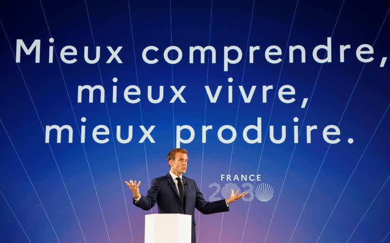"""""""France 2030"""" investment plan presentation at The Elysee Presidential Palace in Paris"""