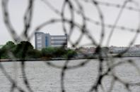A view of buildings at the Rikers Island penitentiary complex taken in 2011 (AFP/EMMANUEL DUNAND)