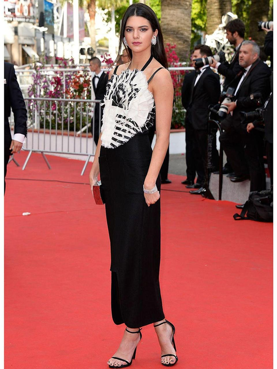 <p>In Chanel Resort 2014 at the opening ceremony of the 67th Annual Cannes Film Festival, 14 May 2014.</p>