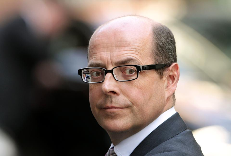 BBC political journalist Nick Robinson at No 10 Downing Street in central London.