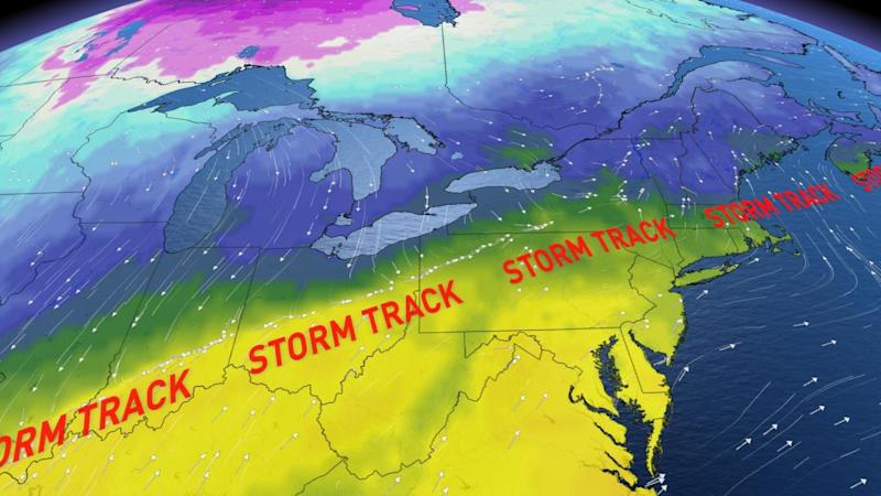 Ontario: Active storm track threatens snow and ice this week