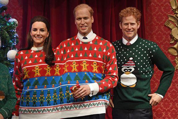 Also, can we just say that Harry looks positively dapper in this penguin knit? (Photo: AP)