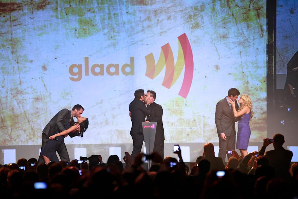 <strong>Raised money for GLAAD at the LGBT-rights group's media awards at $5,000 apiece</strong>