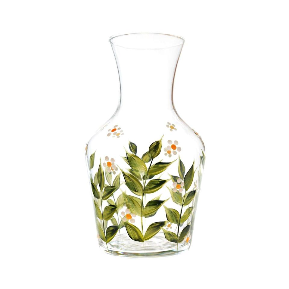 """<p>Based in the Scottish Highlands, Palumbo creates sustainable homeware with hand-painted designs and dispatches everything in eco-friendly, plastic-free packaging. Her carafe and tumbler sets are bestsellers and come with an array of pretty floral motifs. We also love the larger carafe vases, which can be used as a vessel for water or wine as well as flowers. KP</p><p>£80, <a href=""""https://petrapalumbo.com/product/madeleine-carafe-vase/"""" rel=""""nofollow noopener"""" target=""""_blank"""" data-ylk=""""slk:Petra Palumbo"""" class=""""link rapid-noclick-resp"""">Petra Palumbo</a></p>"""