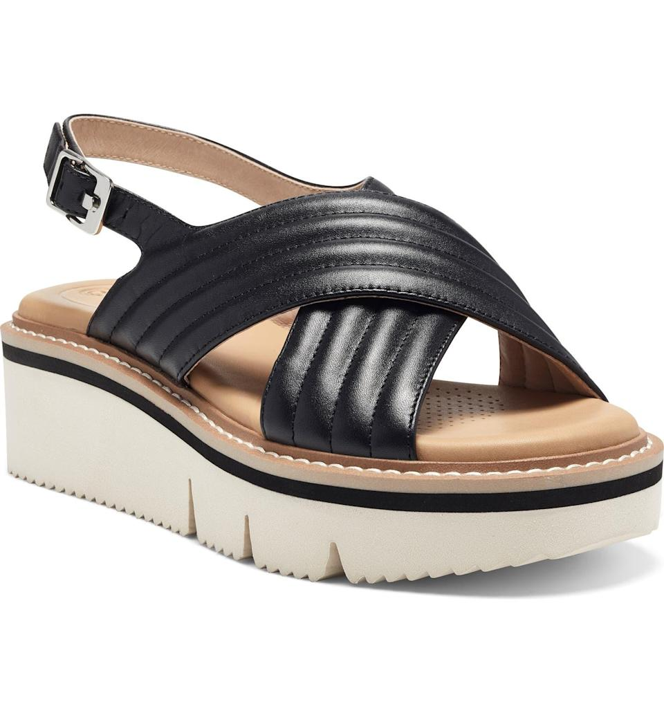 """<h2>Sale Selects<br></h2><br>While Nordstrom's sale section is a must-visit any time of year — and don't even get us started on Nordstrom Rack's addictive tendencies — the retailer's periodic blowout sales have customers lining up for actually good, limited deals on new arrivals and best-sellers. ICYMI, one of these events — the <a href=""""https://www.nordstrom.com/browse/sale/women"""" rel=""""nofollow noopener"""" target=""""_blank"""" data-ylk=""""slk:Half-Yearly sale"""" class=""""link rapid-noclick-resp"""">Half-Yearly sale</a> — is in full swing for just a few more days, and Nordy just announced the dates for their stampede-inducing Anniversary Sale, which will start on July 28th.<br><br><h2>CC Corso Como Lana Platform Slingback Sandal</h2><br>A designer-y flatform that reeks of a high-end Italian label is the perfect summer foot hug — especially at over 40% off.<br><br><em>Shop <strong><a href=""""https://www.nordstrom.com/brands/cc-corso-como--18851"""" rel=""""nofollow noopener"""" target=""""_blank"""" data-ylk=""""slk:CC Corso Como"""" class=""""link rapid-noclick-resp"""">CC Corso Como</a></strong></em><br><br><strong>CC Corso Como</strong> Lana Platform Slingback Sandal, $, available at <a href=""""https://go.skimresources.com/?id=30283X879131&url=https%3A%2F%2Fwww.nordstrom.com%2Fs%2Fcc-corso-como-lana-platform-slingback-sandal-women%2F5787529%3F%26color%3Dblack"""" rel=""""nofollow noopener"""" target=""""_blank"""" data-ylk=""""slk:Nordstrom"""" class=""""link rapid-noclick-resp"""">Nordstrom</a>"""