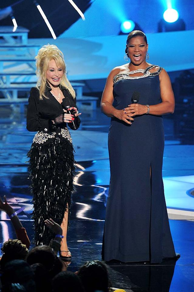 Presenters Dolly Parton and Queen Latifah shared a laugh on stage at this year's show, which celebrates the cities of soul music, including Philadelphia, Chicago, Memphis, and Detroit. Catch the special tonight (December 19) at 9 p.m. ET on VH1. (12/18/2011)