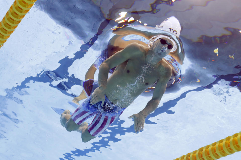 <p>TOKYO, JAPAN - JULY 28: Michael Andrew of Team United States competes in heat six of the Men's 200m Individual Medley on day five of the Tokyo 2020 Olympic Games at Tokyo Aquatics Centre on July 28, 2021 in Tokyo, Japan. (Photo by Clive Rose/Getty Images)</p>