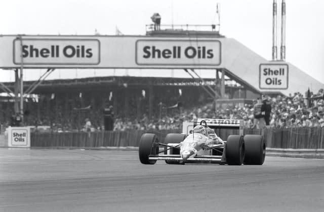Nigel Mansell overhauled a huge deficit to catch and pass team-mate Nelson Piquet and win the 1987 British Grand Prix (PA)
