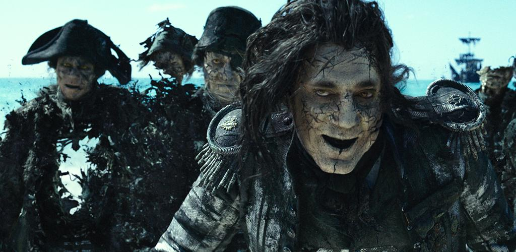 """<p>The undead Captain Salazar (Javier Bardem) in 'Pirates of the Caribbean: Dead Men Tell No Tales'(Photo: Disney)  <p></p>  <img alt=""""image"""" width=""""1024"""" height=""""528""""/> <p>Back In Ship Shape</p><p> Javier Bardem as the living Captain Salazar in 'Pirates of the Caribbean: Dead Men Tell No Tales' (Photo: Disney)<br /> <p></p>  <img alt=""""image"""" width=""""1024"""" height=""""534""""/> <p>Message in a Bottle?</p><p> An imagefrom 'Pirates of the Caribbean: Dead Men Tell No Tales' (Photo: Disney)<br /><br /><br /> <p></p>  <img alt=""""image"""" width=""""1024"""" height=""""478""""/> <p>Heat Wave</p><p> A spookyJavier Bardem as Captain Salazar in 'Pirates of the Caribbean: Dead Men Tell No Tales' (Photo: Disney)<br /><br /> <p></p>  <img alt=""""image"""" width=""""1024"""" height=""""492""""/> <p>Sweet Bird of Youth</p><p> Captain Jack Sparrow (Johnny Depp) in a flashback scene, made young with the help of CGI in 'Pirates of the Caribbean: Dead Men Tell No Tales'(Photo: Disney)<br /><br /><br /> <p></p>  <img alt=""""image"""" width=""""1024"""" height=""""467""""/> <p>Cool vs. Ghoul</p><p> Geoffrey Rush as Barbossa (left) faces off with Javier Bardem as Captain Salazar in 'Pirates of the Caribbean: Dead Men Tell No Tales' (Photo: Disney)<br /><br /> <p></p>  <img alt=""""image"""" width=""""1024"""" height=""""529""""/> <p>Keep Your Eye on the Sparrow</p><p> Johnny Depp as Captain Jack Sparrow in 'Pirates of the Caribbean: Dead Men Tell No Tales'(Photo: Disney)<br /><br /> <p></p>  <img alt=""""image"""" width=""""1024"""" height=""""481""""/> <p>The New Recruit</p><p> Brenton Thwaites plays Henry, a young sailor, in 'Pirates of the Caribbean: Dead Men Tell No Tales' (Photo: Disney)<br /><br /> <p></p>"""