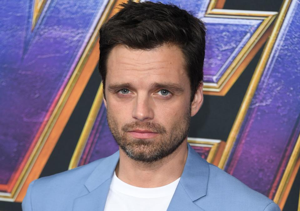 "Romanian/US actor Sebastian Stan arrives for the World premiere of Marvel Studios' ""Avengers: Endgame"" at the Los Angeles Convention Center on April 22, 2019 in Los Angeles. (Photo by VALERIE MACON / AFP)        (Photo credit should read VALERIE MACON/AFP via Getty Images)"