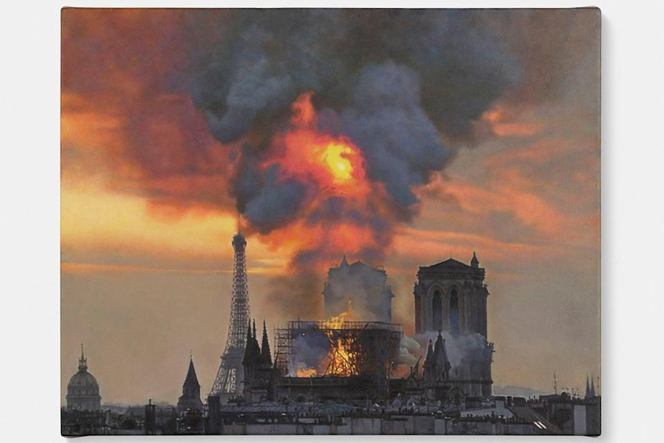 Notre-Dame on Fire, 2019Damien Hirst and Science Ltd