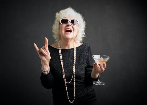 """<span class=""""caption"""">We can't all be saints all the time.</span> <span class=""""attribution""""><a class=""""link rapid-noclick-resp"""" href=""""https://www.shutterstock.com/image-photo/grandma-glasses-drink-hand-showing-rock-585619955"""" rel=""""nofollow noopener"""" target=""""_blank"""" data-ylk=""""slk:Kaspars Grinvalds/Shutterstock"""">Kaspars Grinvalds/Shutterstock</a></span>"""