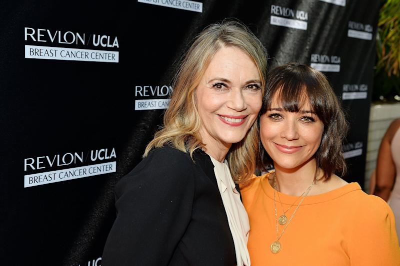 LOS ANGELES, CA - SEPTEMBER 27: Actors Peggy Lipton (L) and Rashida Jones attend Revlon's Annual Philanthropic Luncheon in support of the Revlon Women's Health Mission and to honor the achievements of Dr. Dennis Slamon at the Chateau Marmont on September 27, 2016 in Los Angeles, California. (Photo by Stefanie Keenan/Getty Images for Revlon)