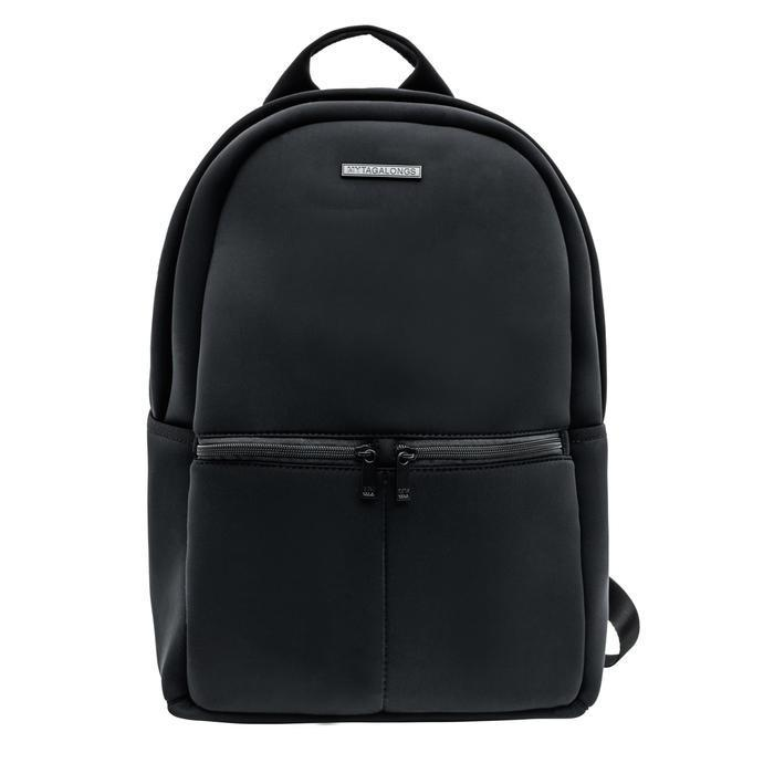 """<p><strong>My Tagalongs</strong></p><p>mytagalongs.com</p><p><strong>$65.00</strong></p><p><a href=""""https://mytagalongs.com/collections/backpack/products/backpack-everleigh-black?variant=13352414347316"""" rel=""""nofollow noopener"""" target=""""_blank"""" data-ylk=""""slk:Shop Now"""" class=""""link rapid-noclick-resp"""">Shop Now</a></p><p>The neoprene material of this bag makes it super easy to keep clean, and also adds padding for your electronic devices. You can zip your phone, keys, or protein powders in the front pockets, and still have plenty of room for your work essentials, too. </p>"""