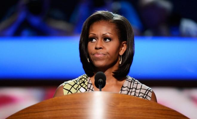 First Lady Michelle Obama during a soundcheck before the Democratic National Convention in September 2012 in Charlotte, N.C.