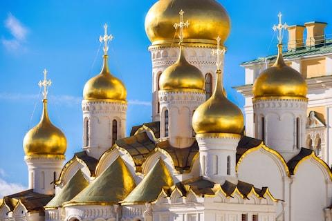 Moscow's golden domes - Credit: GETTY
