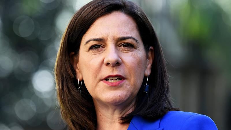 Deb Frecklington, pictured here at a press conference in Brisbane.