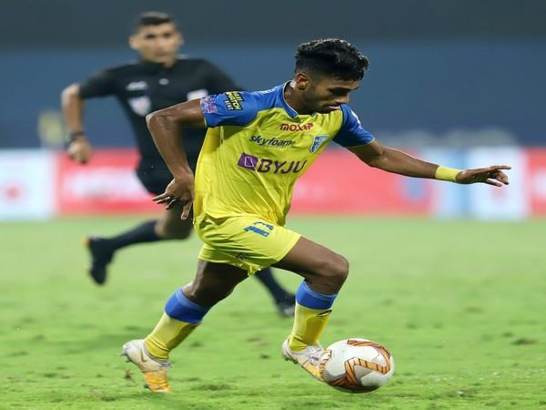 Kerala Blasters midfielder Rahul KP (Photo/ ISL)
