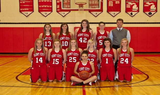 The Kent City girls basketball team, which hit a state record 23 3-pointers in a win — KentCitySchools.org