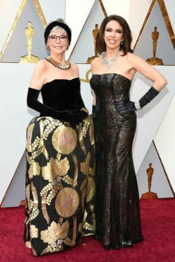 Rita Moreno (L) and her daughter Fernanda Luisa Gordon arrive for the 90th Annual Academy Awards