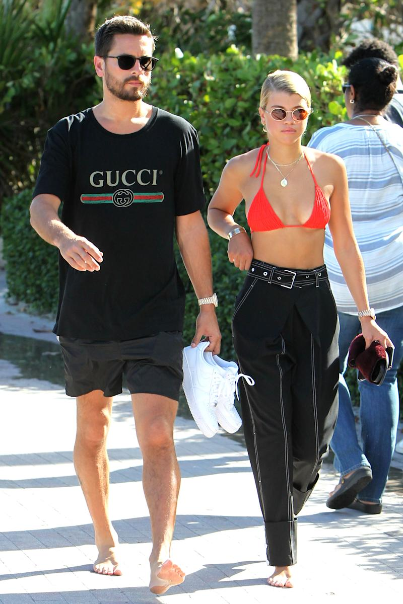 Scott Disick and Sofia Richie Get a Congratulations Dessert and Become Instagram Official