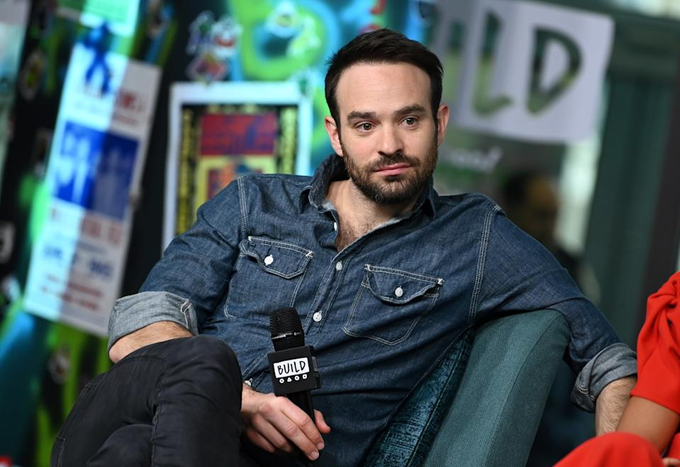"""NEW YORK, NEW YORK - NOVEMBER 07: (EXCLUSIVE COVERAGE) Actor Charlie Cox visits Build Series to discuss his Broadway debut at """"Betrayal"""" at Build Studio on November 07, 2019 in New York City. (Photo by Slaven Vlasic/Getty Images)"""