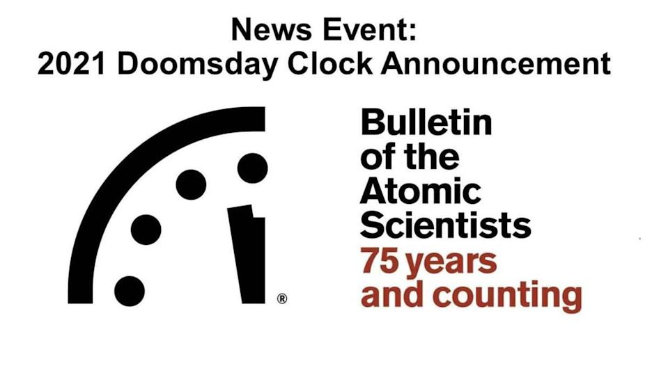 Doomsday Clock unmoved by pandemic; reads 100 seconds to midnight
