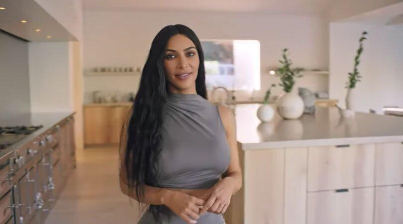 """Kim <a href=""""https://people.com/home/kim-kardashian-kanye-west-security-pod-garage-house-details/"""" rel=""""nofollow noopener"""" target=""""_blank"""" data-ylk=""""slk:gave a tour of the palatial property"""" class=""""link rapid-noclick-resp"""">gave a tour of the palatial property</a>, showing off one of the home's two kitchens in a <em>Vogue</em> """"<a href=""""https://www.youtube.com/watch?v=QaZ93sibpk0"""" rel=""""nofollow noopener"""" target=""""_blank"""" data-ylk=""""slk:73 questions"""" class=""""link rapid-noclick-resp"""">73 questions</a>"""" video. There's a """"staff kitchen"""" and a """"show kitchen"""" (pictured)."""