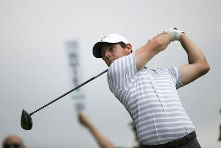 Mar 22, 2017; Austin, TX, USA; Rory McIlroy of Ireland plays against Soren Kjeldsen of Denmark during the first round of the World Golf Classic - Dell Match Play golf tournament at Austin Country Club. Mandatory Credit: Erich Schlegel-USA TODAY Sports
