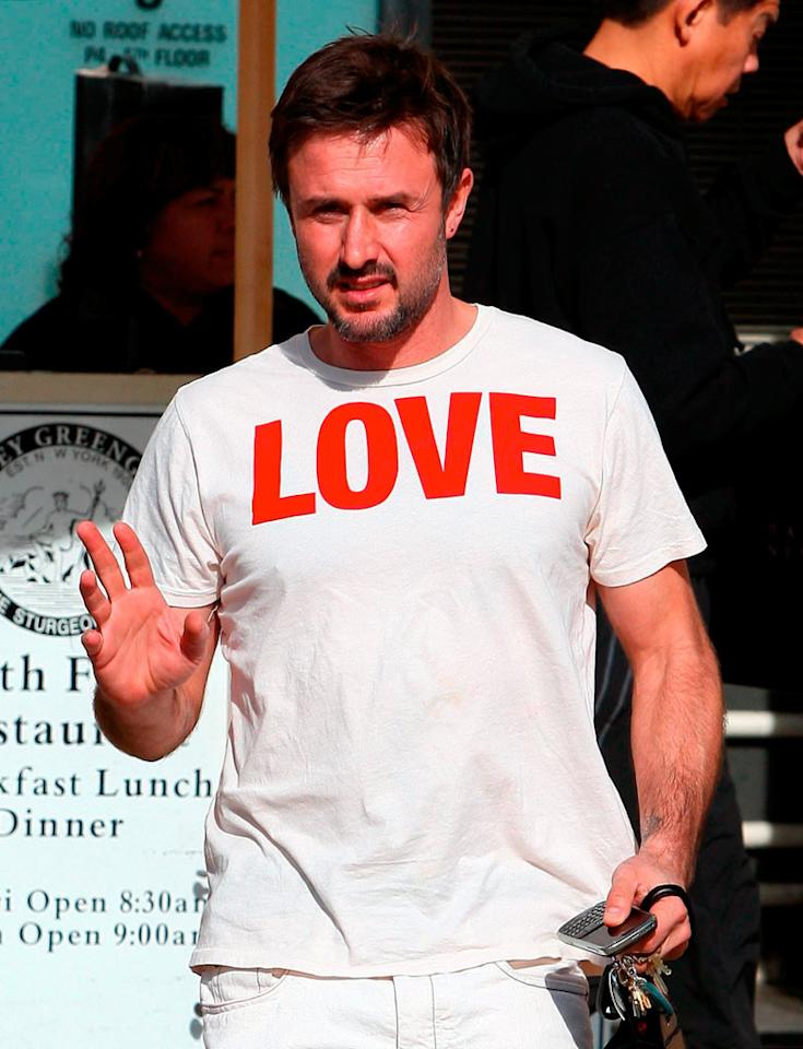 "All David Arquette needs is ""Love."" Rafa-Fabio/<a href=""http://www.x17online.com"" target=""new"">X17 Online</a> - December 23, 2008"