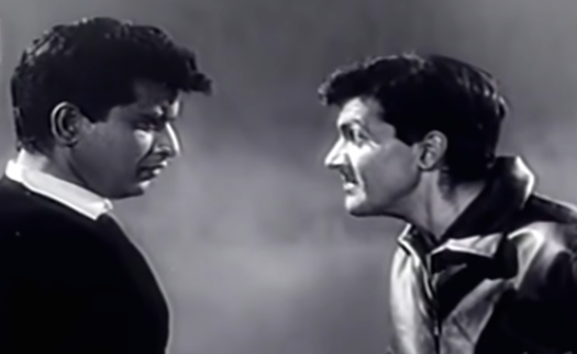 Manoj Kumar and Prem Chopra in Woh Kaun Thi