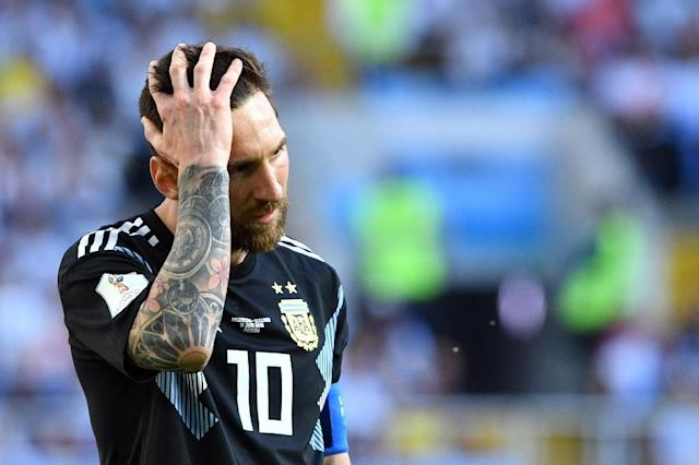 Lionel Messi missed a penalty as Argentina were held to a 1-1 draw by Iceland at the World Cup in Russia (AFP Photo/Mladen ANTONOV)