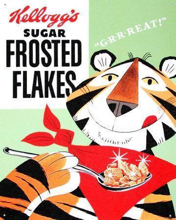 "<p>Kellogg's introduced <a href=""https://www.goodhousekeeping.com/food-recipes/g3577/cereal-brands-history/"" rel=""nofollow noopener"" target=""_blank"" data-ylk=""slk:Tony the Tiger"" class=""link rapid-noclick-resp"">Tony the Tiger</a> to spread the word about how grrreat Frosted Flakes were. Thurl Ravenscroft (also famous for singing the original ""You're a Mean One, Mr. Grinch"") lent his voice to the world's most famous <a href=""https://www.goodhousekeeping.com/food-products/g4111/best-healthy-cereal/"" rel=""nofollow noopener"" target=""_blank"" data-ylk=""slk:cereal-loving"" class=""link rapid-noclick-resp"">cereal-loving</a> jungle cat.</p>"