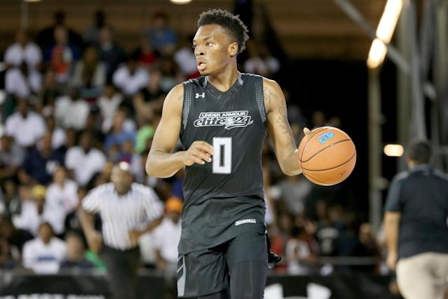 Ja'Vonte Smart participated in the Under Armour Elite 24 as a rising junior in 2016. (AP)