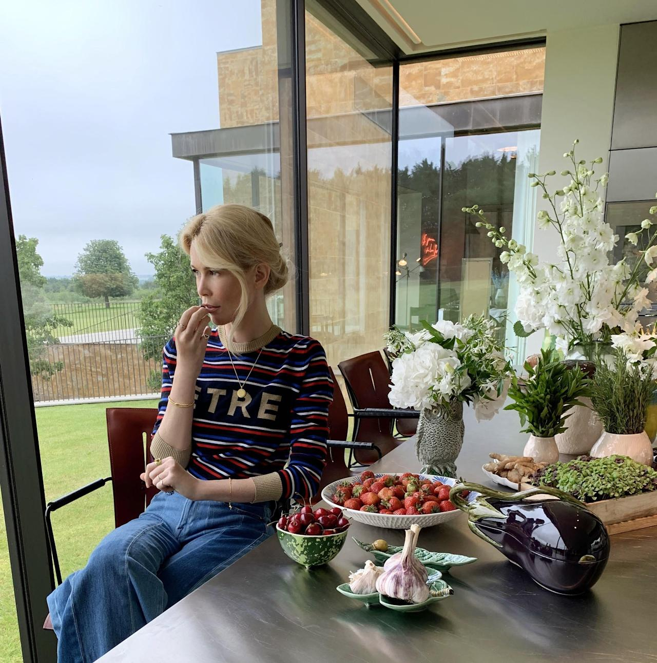Claudia Schiffer Tells AD About Her New Butterfly-Inspired Homewares
