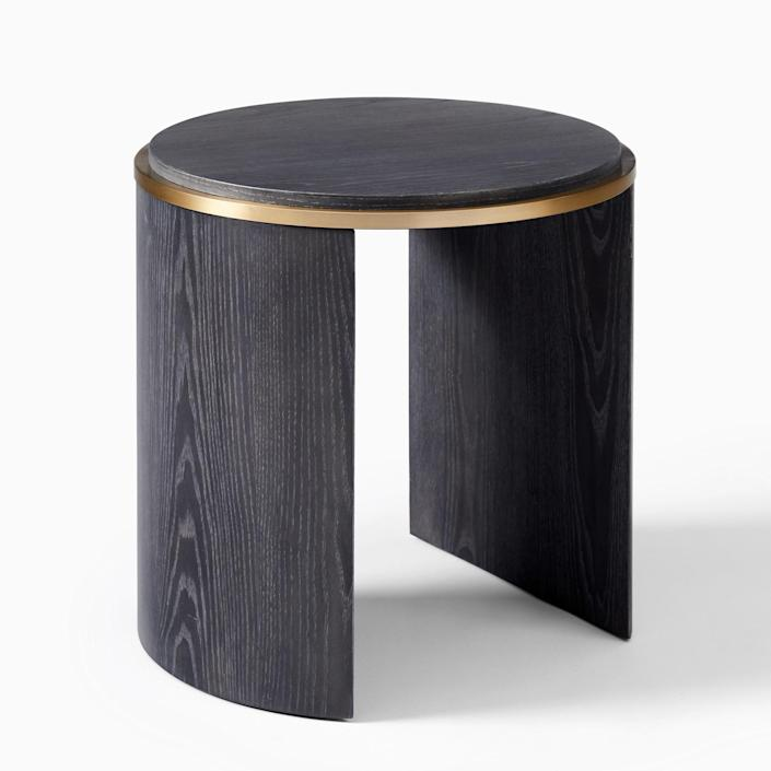 """It may seem like a pared-down version of the console table, but the side table was actually a jumping-off point for its larger counterpart. $229, West Elm. <a href=""""https://www.westelm.com/products/bower-side-table-h6256/"""" rel=""""nofollow noopener"""" target=""""_blank"""" data-ylk=""""slk:Get it now!"""" class=""""link rapid-noclick-resp"""">Get it now!</a>"""