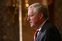 White House Chief of Staff Meadows speaks to reporters in the U.S. Capitol in Washington