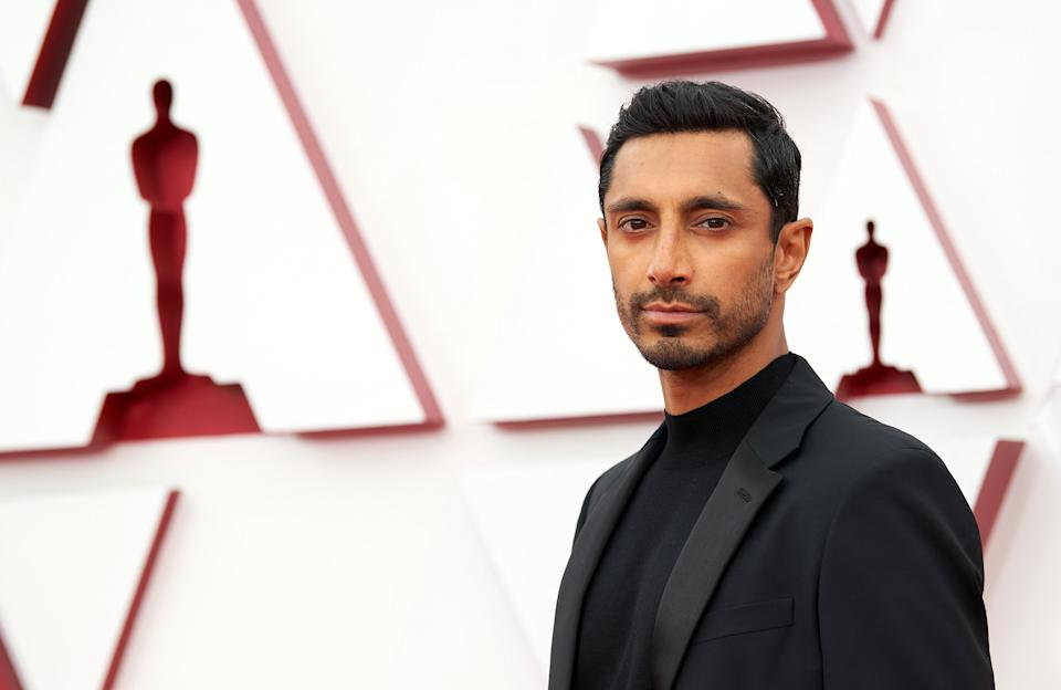 LOS ANGELES, CALIFORNIA – APRIL 25: (EDITORIAL USE ONLY) In this handout photo provided by A.M.P.A.S., Riz Ahmed attends the 93rd Annual Academy Awards at Union Station on April 25, 2021 in Los Angeles, California. (Photo by Matt Petit/A.M.P.A.S. via Getty Images)