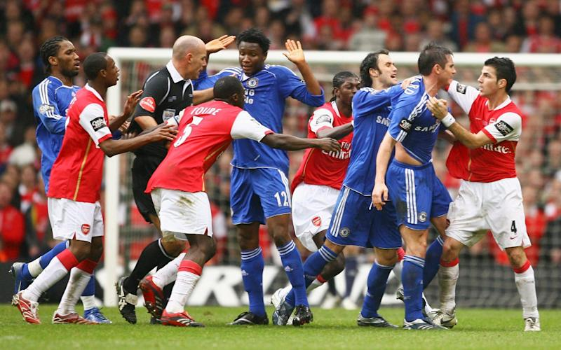 The 2007 League Cup final was a feisty affair - GETTY IMAGES