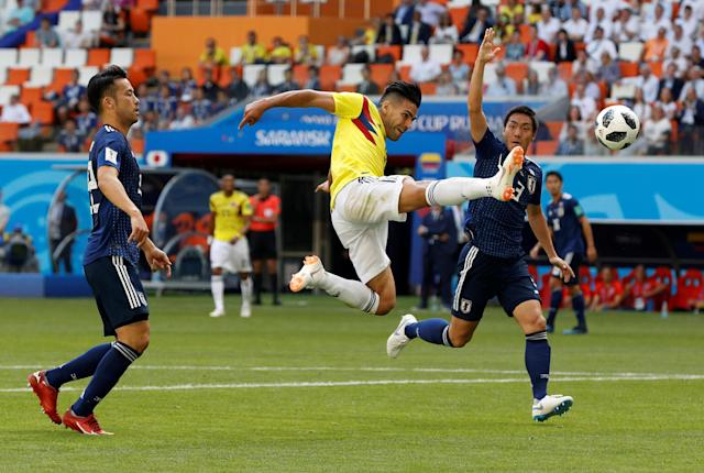 Soccer Football - World Cup - Group H - Colombia vs Japan - Mordovia Arena, Saransk, Russia - June 19, 2018 Colombia's Radamel Falcao misses a chance to score REUTERS/Darren Staples TPX IMAGES OF THE DAY