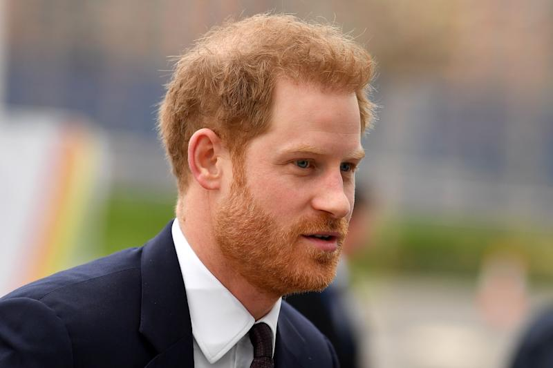 Britain's Prince Harry, Duke of Sussex arrives to attend the UK-Africa Investment Summit in London on January 20, 2020. (Photo by Ben STANSALL / AFP) (Photo by BEN STANSALL/AFP via Getty Images)