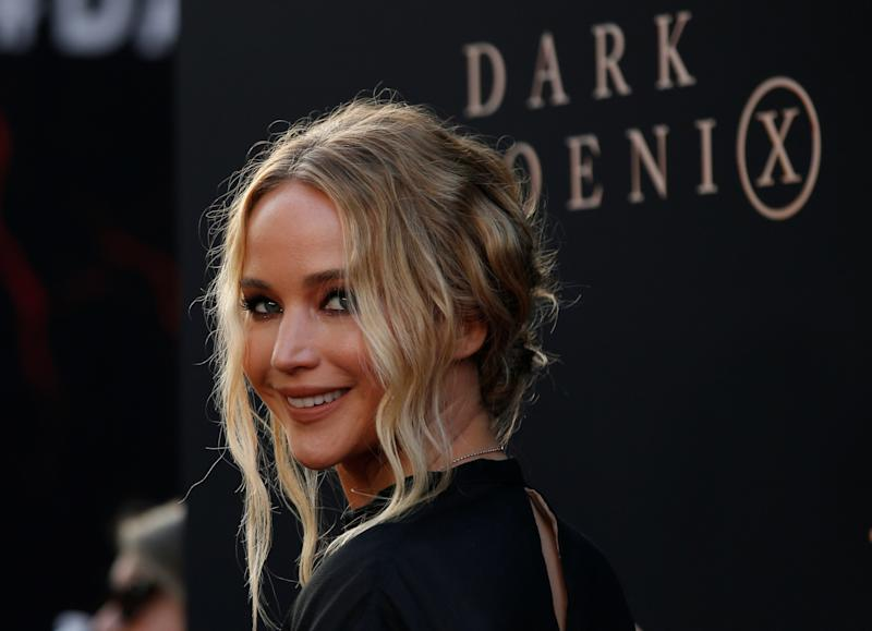 "Actor Jennifer Lawrence poses at the premiere for the film ""Dark Phoenix"" in Los Angeles, California, U.S., June 4, 2019. REUTERS/Mario Anzuoni"