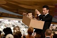 Jimmy Kimmel handed out sandwiches in the audience for laughs when he hosted the 2016 Emmys, but this time, there won't be an audience