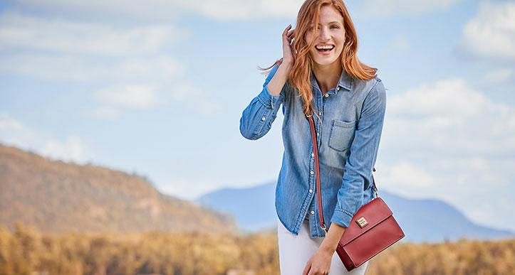 If you've always wanted a designer handbag, now's the time to treat yourself and score a major deal. (Photo: Dooney & Bourke)