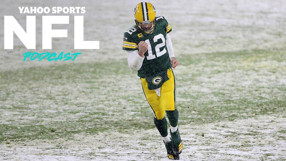 After a decisive 40-14 victory over the Tennessee Titans, Green Bay Packers quarterback Aaron Rodgers may have sealed up his third career MVP award. (Photo by Dylan Buell/Getty Images)