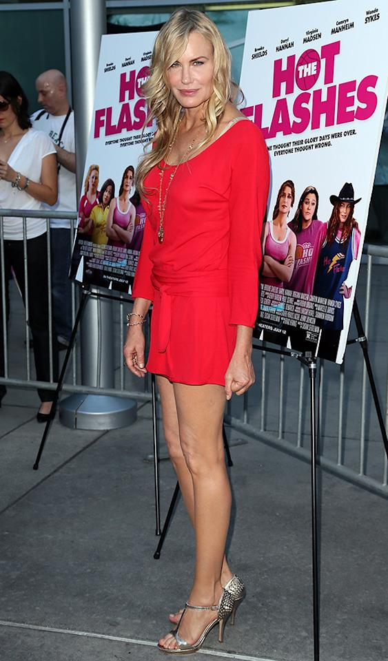 "HOLLYWOOD, CA - JUNE 27:  Actress Daryl Hannah attends the premiere of ""The Hot Flashes"" at ArcLight Cinemas on June 27, 2013 in Hollywood, California.  (Photo by David Livingston/Getty Images)"