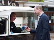 <p>Getting some ice cream during a visit to the Queens Bay Lodge Care Home on May 23, 2021 in Edinburgh, Scotland.</p>