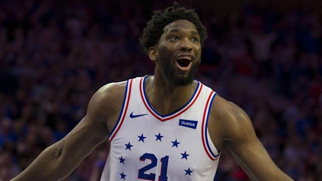 Joel Embiid led the way for Philadelphia with 36 points and 13 rebounds as the 76ers (3-0) remain the last unbeaten team in the East.