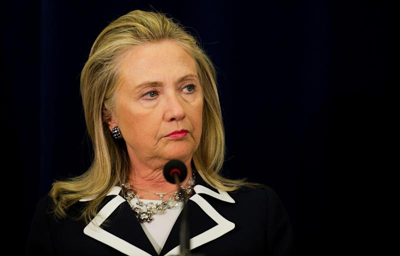 U.S. Secretary of State Hillary Rodham Clinton delivers remarks during a press conference at the U.S. Consulate in Vladivostok, Russia Sunday, Sept. 9, 2012. (AP Photo/Jim Watson, Pool)
